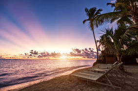 Sunrise over Punta Cana, Dominican Republic.