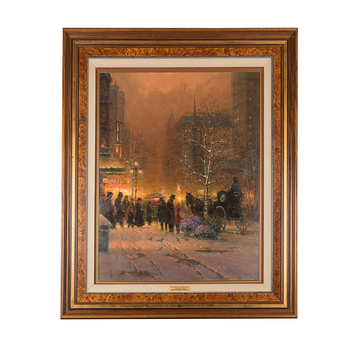 Evening on the Avenue, New York City painting by G. Harvey
