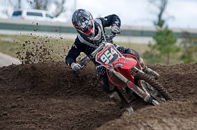 Motocross Rider at Three Palms Track.