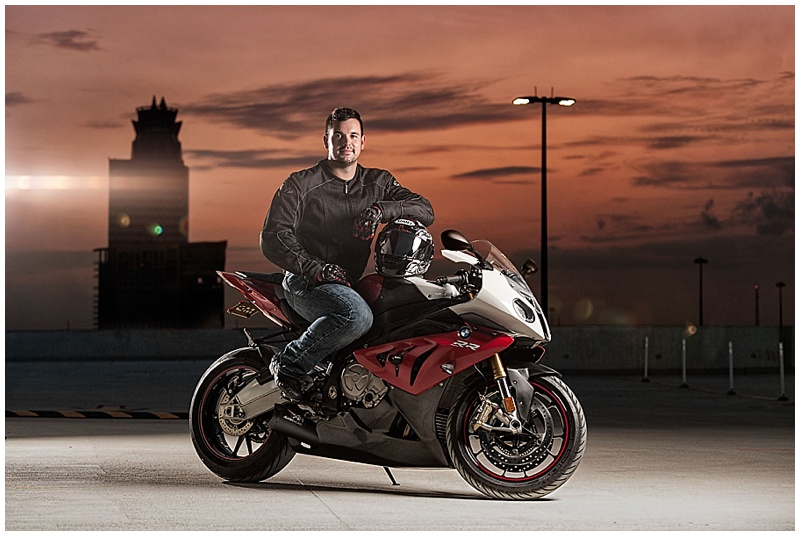 Todd and his BMW S1000RR shot by Brian Vogel in Houston, Texas.